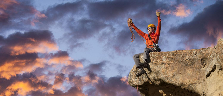 Mountain climbing team.